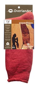 Wine 11-14 Overlander Expedition Sock