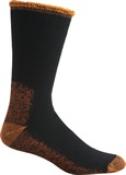 Black-Flouro-Orange 11-14 Acrylic-nylon Sock