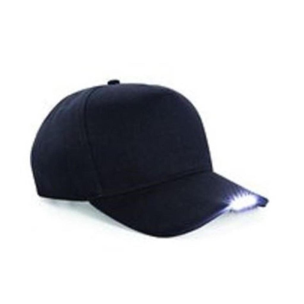 5 LED Baseball Cap Black