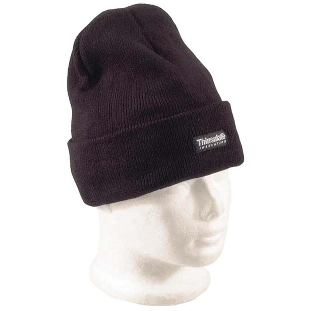 Acrylic Beanie Black Thinsulate Lined