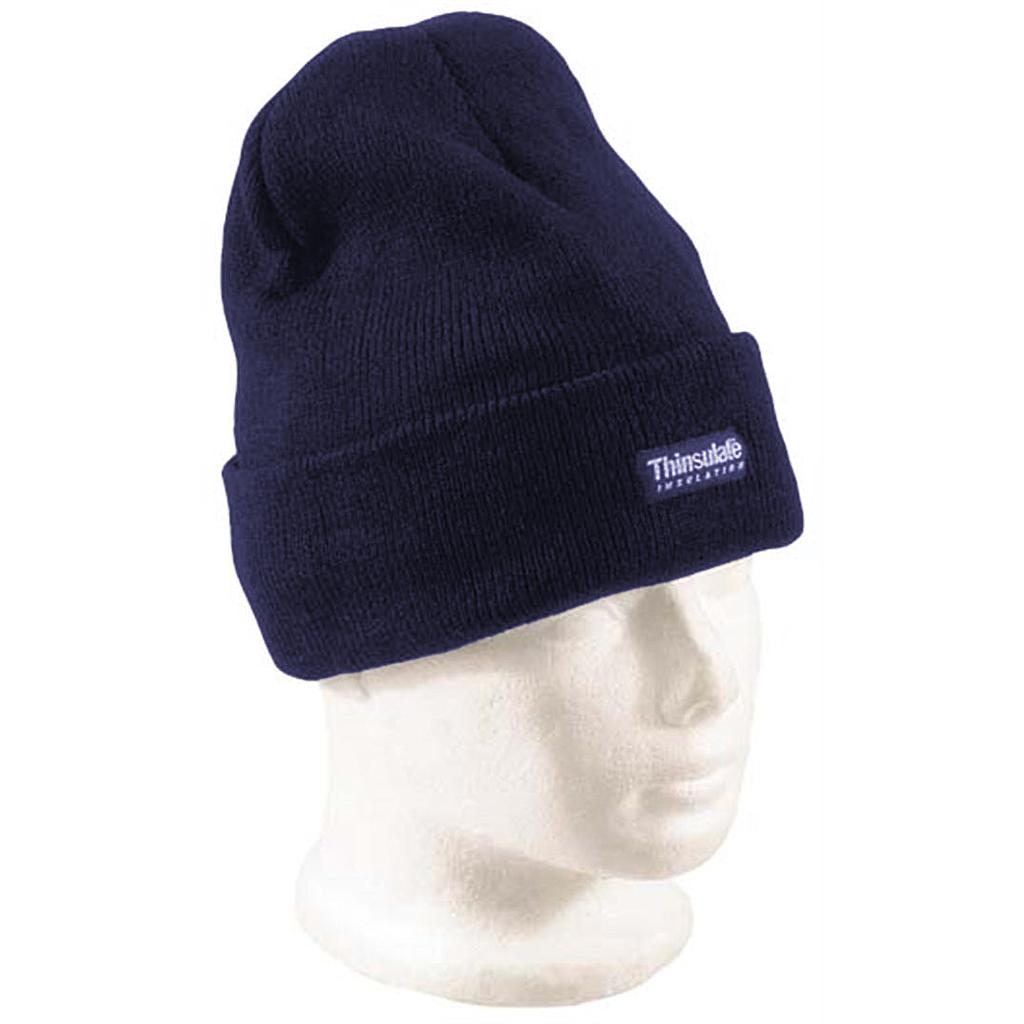 Acrylic Beanie Navy Thinsulate Lined