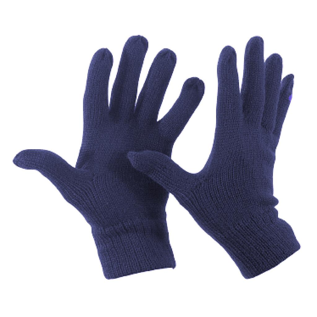 Wool Knit Glove Navy