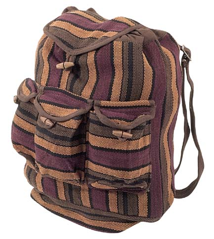 Dhurry Backpack Brown 3 Front Pockets