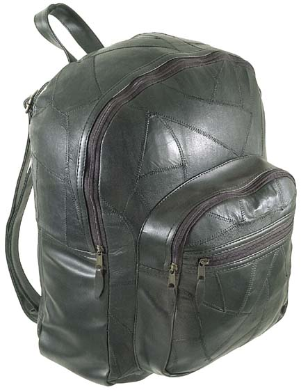 Leather Backpack Zip Closing