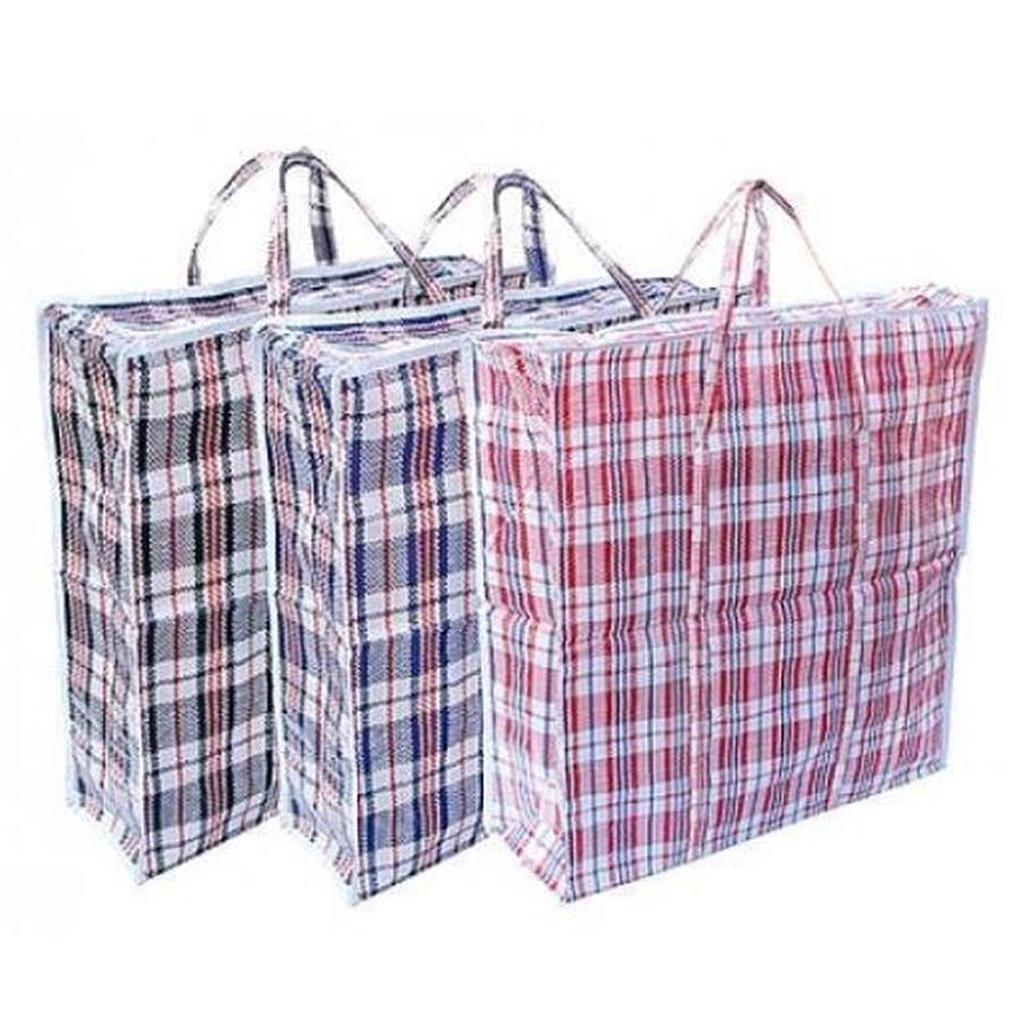 "16x18x8"" Checked Stripe Bali Shopping Luggage Bag Small"