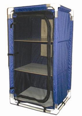 Navy Camp Cupboard 57x47x105cm