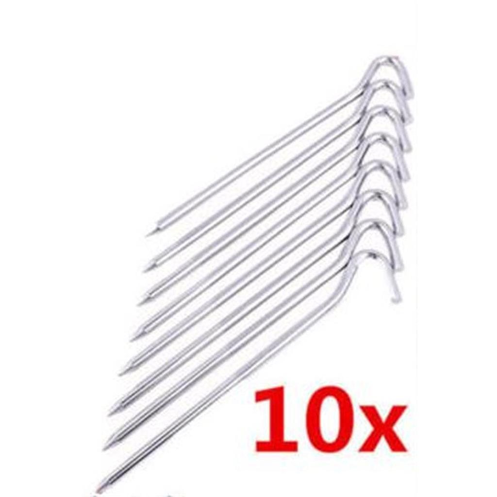 "7"" Steel Wire Tent Peg 10 Per Pack"