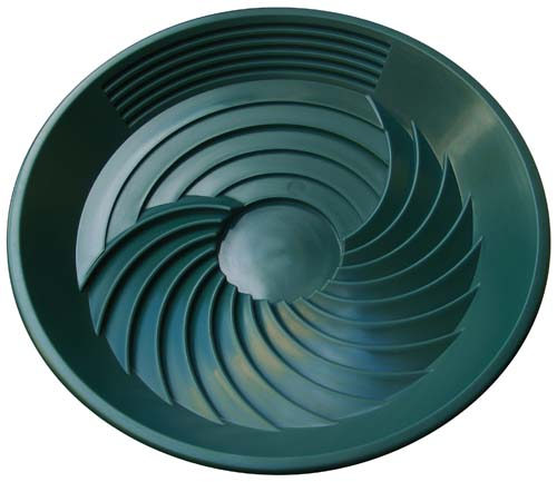 "Turbo Gold Pan Green Plastic 16"" 40cm"