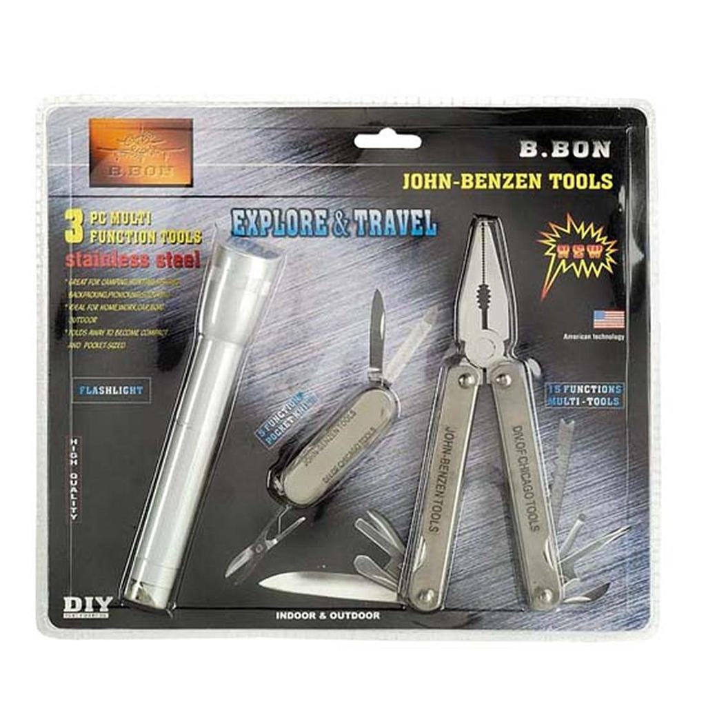 3 pce Set Multi Tool Set with Torch