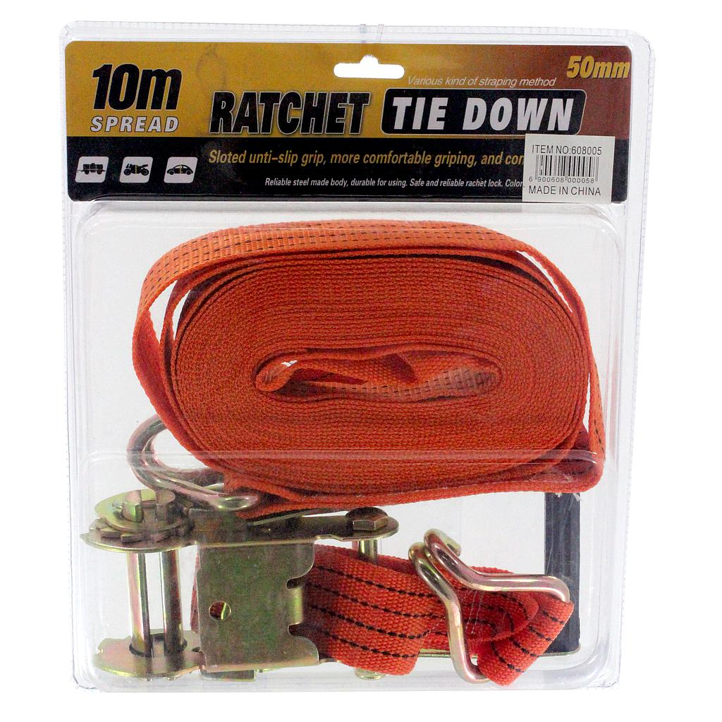 Ratchet Tie Down 10mtx50mm