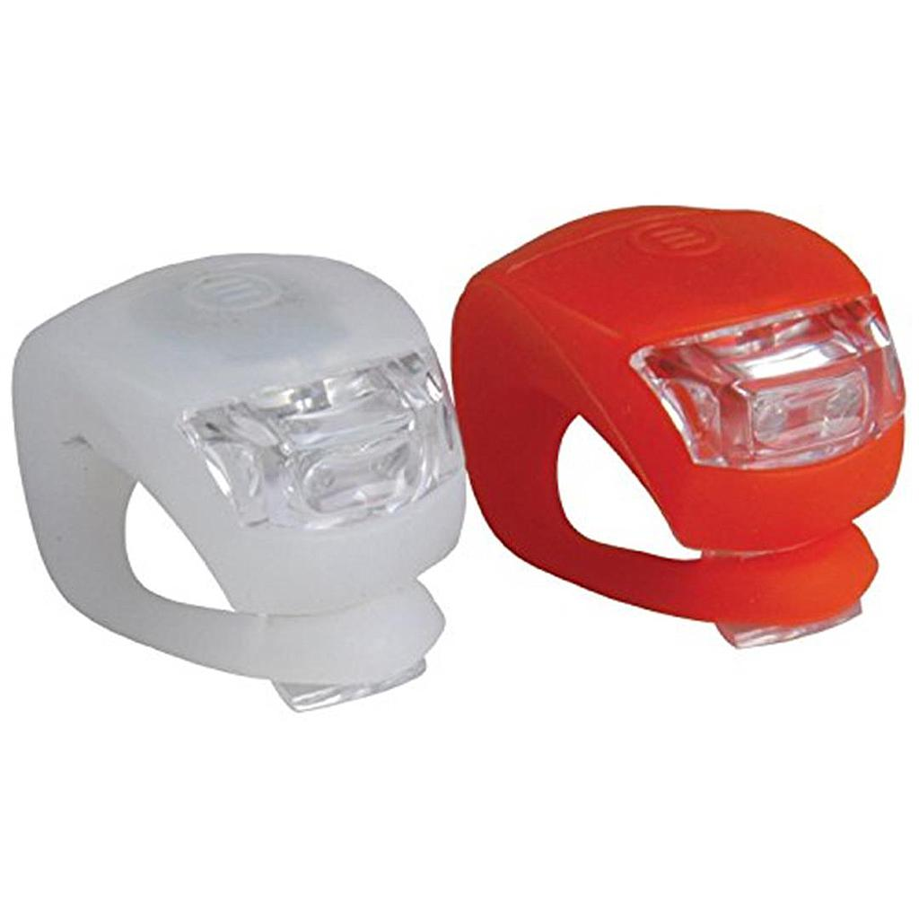 Bike Lamps LED Front White & Back Red