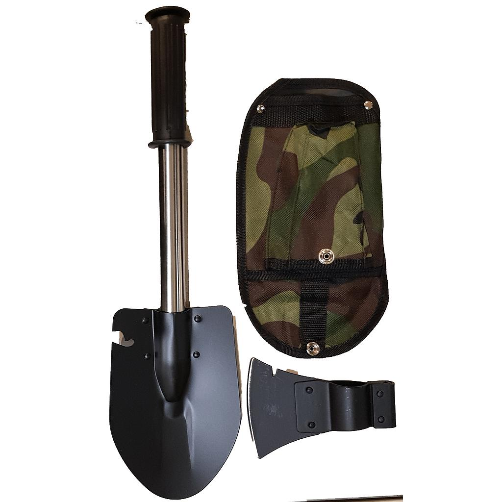 Steel Hatchet Shovel Combination with Pouch